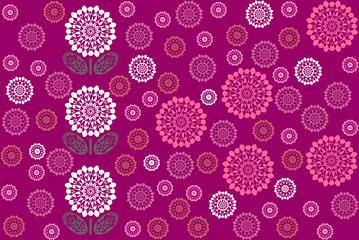 Geometric pattern - Flower (crimson)