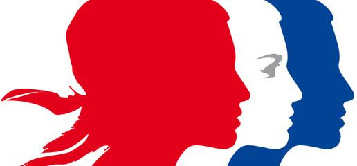 Marianne bleu blanc rouge