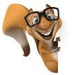 canvas print picture - Fun squirrel