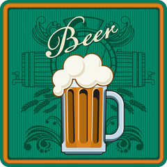 Beer theme in green