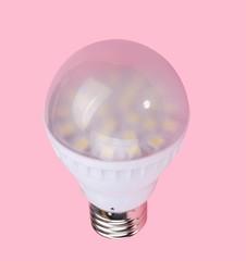 Led Tube Lamp on Pink Background