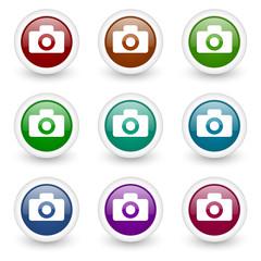 camera web icons vector set