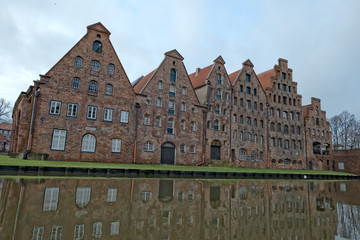 lubeck river old buildings store house