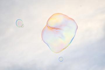 giant soap bubble rainbow colors