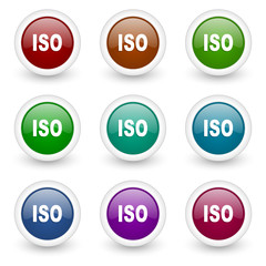 iso colorful web icons vector set