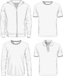 Set of male shirts. Vector illustration - 75789264