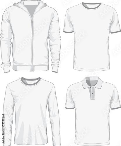 Set of male shirts. Vector illustration - 75789264