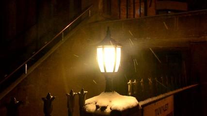 Snowing on Night Light