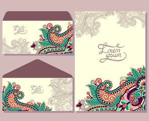 special beautiful design for greeting card and envelopes