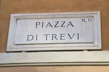 Targa di Piazza di Trevi - Roma