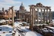 Roman Forum with snow.