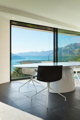 Interior, modern house, dining room