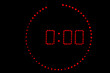 Leinwanddruck Bild - horloge radio minuit