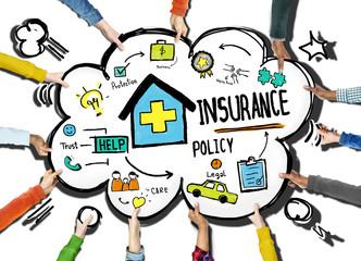 Diversity Hands Insurance Policy Volunteer Support Help Concept