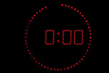 horloge radio minuit