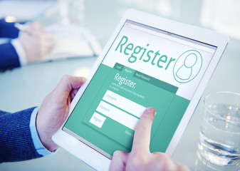 Registration Application Join Office Browsing Concept