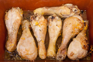 Chicken little legs with rosemary