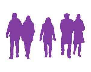 Vector Group Of People Walking