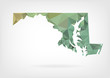Low Poly map of Maryland state