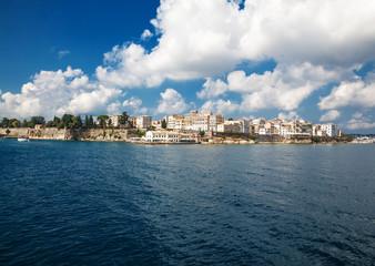 Corfu town.Panoramic view.