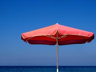 Sunshade and the sea