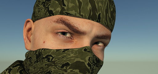 Eyes of the soldier