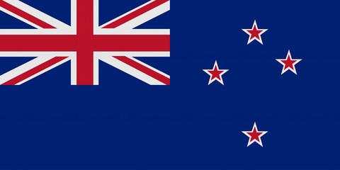 Flagge Neuseeland mit Reflektierung