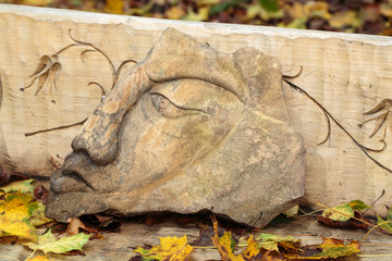 Fairy-like stone  figures from primaeval Slawic tales