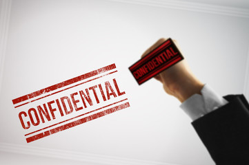 Classify a Confidential file with a red stamp