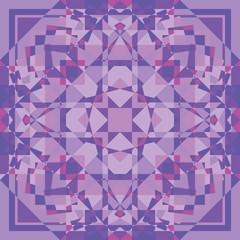 purple square geometry ornament