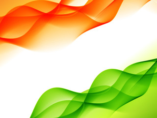 indian flag design made in wave style