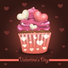 Valentines muffin