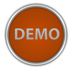 Demo circular icon on white background