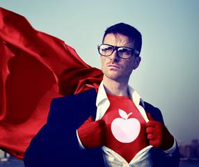 Education Strong Superhero Professional Empowerment Concept