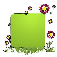 spring flower rectangle