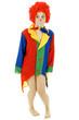 Clown trägt keine Hose