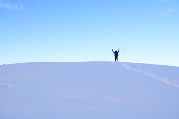 karlı dağlarda ilk ayak izleri