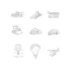 icons, vector, transportation