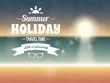 Summer typography vector design, beach sunset seaside