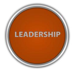 Leadership circular icon on white background