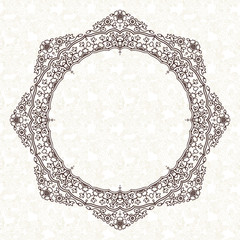 Filigree vector frame in Eastern style.