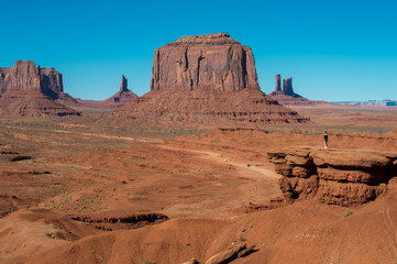 Tourist at John Ford' Point in Monument Valley