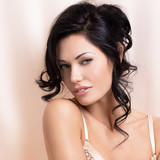 Fototapety Portrait of a beautiful sexy tender woman with creative hairstyl