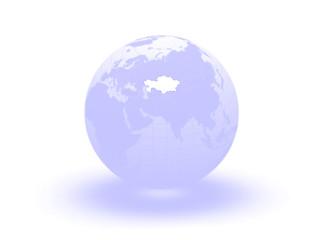 Globe. 3d. Kazakhstan.