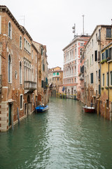 One of the canals in Venice, Italy