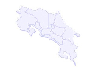 Map of Costa Rica.