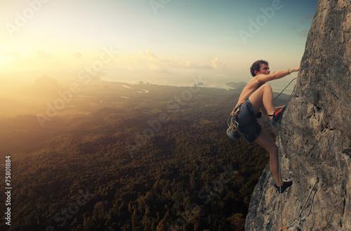 Fotobehang Alpinisme Climber