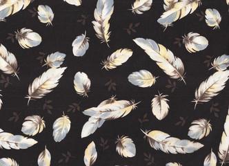 Fond à plumes vleutées.