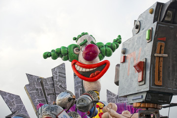 carnival parade wagon detail the clown