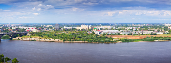 industry district at Nizhny Novgorod in summer